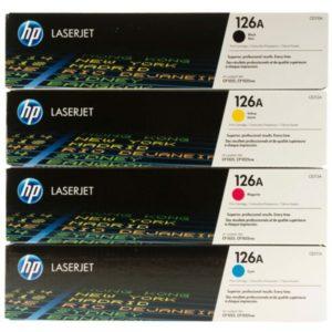 کارتریج 126A در پرینتر لیزری رنگی اچ پی cp1025nw