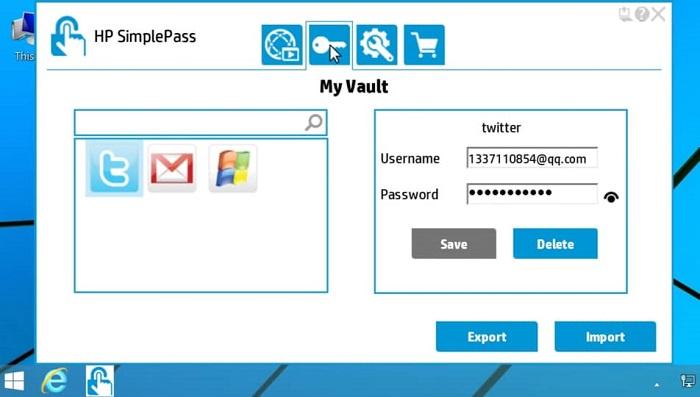 راه اندازی simplepass در لپتاپ های HP